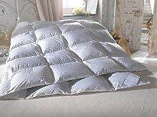 Daunendecke mit Tasche 135X200 Winter Natur premium deluxe. Extra warmes Winterbett Daunenbett Winterdaunendecke Winter Klasse für allergiker.