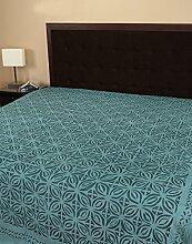 Daunendecken Bettlaken grün Handarbeit