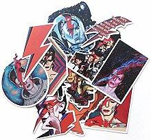 David Bowie Artwork Aufkleber, Skateboard, Laptop,