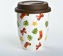 DAXINYANG Kreative Weihnachtsbecher, Tote Cup,