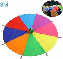 Daxoon Schwungtuch Parachute Fallschirm Spielzeug