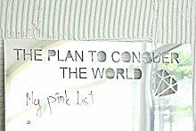day3dream ®- The Plan to Conquer the World - Wandspiegel Aufkleber-Mädchen Zimmer Wand Decor- Spiegelaufkleber Rahmenlose Spiegel