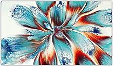 DAYINHUA Abstrakte Aquarell Blume Leinwand Malerei