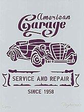 Dayka Trade Schablonen, A4, Motiv Auto Garage,