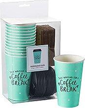 Dayna Lee Coffee Break Einwegbecher mit Deckel und