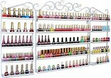 Dazone® 3 in 1 Metall Herz Nagellack Organizer Aromatherapie und ätherischen Ölen Regal Lippenstiftständer Aufbewahrung Weiß