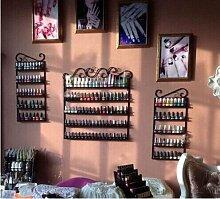 Dazone® 3 in 1 Metall Herz Nagellack Organizer Aromatherapie und ätherischen Ölen Regal Lippenstiftständer Aufbewahrung Braun