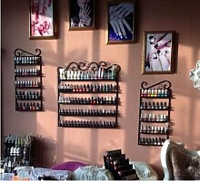 Dazone® 3 in 1 Metall Herz Nagellack Organizer Aromatherapie und ätherischen Ölen Regal Lippenstiftständer Aufbewahrung Schwarz