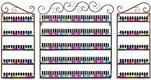 Dazone 3 in 1 Nagellack Aufbewahrung Nagellack Organizernagellack Regal Lippenstiftständer (Braun)
