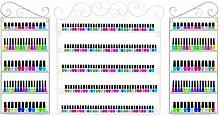 Dazone 3 in 1 Nagellack Aufbewahrung Nagellack Organizernagellack Regal Lippenstiftständer (Weiß)