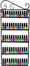 Dazone® 5-tier Metall Herz Nagellack Organizer Aromatherapie und ätherischen Ölen Regal Lippenstiftständer Aufbewahrung (Braun)