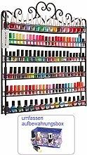 Dazone® 6-tier Metall Herz Nagellack Organizer Aromatherapie und ätherischen Ölen Regal Lippenstiftständer Aufbewahrung (Schwarz)