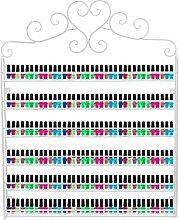 Dazone® 6-tier Metall Herz Nagellack Organizer Aromatherapie und ätherischen Ölen Regal Lippenstiftständer Aufbewahrung (Weiß)