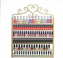 Dazone® 6-tier Metall Herz Nagellack Organizer Aromatherapie und ätherischen Ölen Regal Lippenstiftständer Aufbewahrung (Golden)