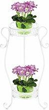 Dazone Gartenregal Blumenregal Blumentreppe Blumenständer Blumensäule Pflanzenständer Regal Pflanzsäule (Weiß)