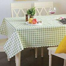 DBHUAV Tischdecke, PVC, abwischbar, elegant,