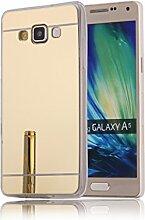 DBIT Galaxy A5 hülle, Schlank Handy-Gehäuse Hülle Spiegel TPU Case Schutzhülle Silikon Case Tasche Für Samsung Galaxy A5,Gold