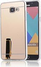 DBIT Galaxy A510 hülle, Schlank Handy-Gehäuse Hülle Spiegel TPU Case Schutzhülle Silikon Case Tasche Für Samsung Galaxy A5 (2016) A510,Gold