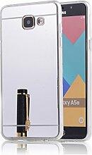 DBIT Galaxy A510 hülle, Schlank Handy-Gehäuse Hülle Spiegel TPU Case Schutzhülle Silikon Case Tasche Für Samsung Galaxy A5 (2016) A510,Silber