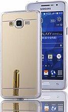 DBIT Galaxy Grand Prime G530 hülle, Schlank Handy-Gehäuse Hülle Spiegel TPU Case Schutzhülle Silikon Case Tasche Für Samsung Galaxy Grand Prime G530,Gold