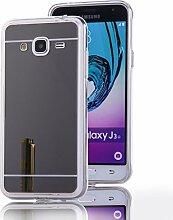 DBIT Galaxy J3 hülle, Schlank Handy-Gehäuse Hülle Spiegel TPU Case Schutzhülle Silikon Case Tasche Für Samsung Galaxy J3,Schwarz