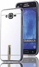 DBIT Galaxy J5 hülle, Schlank Handy-Gehäuse Hülle Spiegel TPU Case Schutzhülle Silikon Case Tasche Für Samsung Galaxy J5,Silber