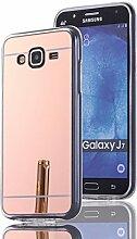 DBIT Galaxy J7 hülle, Schlank Handy-Gehäuse Hülle Spiegel TPU Case Schutzhülle Silikon Case Tasche Für Samsung Galaxy J7,Rose Gold