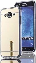 DBIT Galaxy J7 hülle, Schlank Handy-Gehäuse Hülle Spiegel TPU Case Schutzhülle Silikon Case Tasche Für Samsung Galaxy J7,Gold