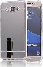 DBIT Galaxy J710 hülle, Schlank Handy-Gehäuse Hülle Spiegel TPU Case Schutzhülle Silikon Case Tasche Für Samsung Galaxy J7 (2016) J710,Schwarz