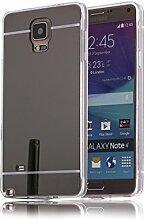 DBIT Galaxy Note 4 hülle, Schlank Handy-Gehäuse Hülle Spiegel TPU Case Schutzhülle Silikon Case Tasche Für Samsung Galaxy Note 4,Schwarz