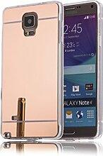 DBIT Galaxy Note 4 hülle, Schlank Handy-Gehäuse Hülle Spiegel TPU Case Schutzhülle Silikon Case Tasche Für Samsung Galaxy Note 4,Rose Gold