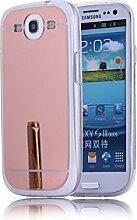 DBIT Galaxy S3 hülle, Schlank Handy-Gehäuse Hülle Spiegel TPU Case Schutzhülle Silikon Case Tasche Für Samsung Galaxy S3,Rose Gold