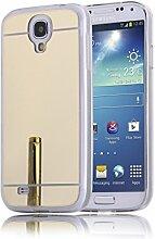 DBIT Galaxy S4 hülle, Schlank Handy-Gehäuse Hülle Spiegel TPU Case Schutzhülle Silikon Case Tasche Für Samsung Galaxy S4,Gold