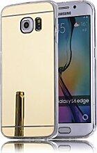 DBIT Galaxy S6 Edge Plus hülle, Schlank Handy-Gehäuse Hülle Spiegel TPU Case Schutzhülle Silikon Case Tasche Für Samsung Galaxy S6 Edge Plus,Gold