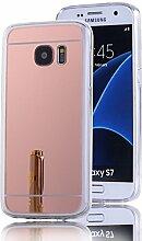 DBIT Galaxy S7 hülle, Schlank Handy-Gehäuse Hülle Spiegel TPU Case Schutzhülle Silikon Case Tasche Für Samsung Galaxy S7,Rose Gold