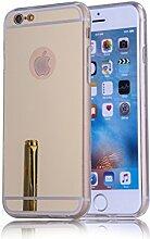 DBIT iPhone 6S hülle, Schlank Handy-Gehäuse Hülle Spiegel TPU Case Schutzhülle Silikon Case Tasche Für Apple iPhone 6 / 6S,Gold