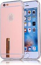 DBIT iPhone 6S Plus hülle, Schlank Handy-Gehäuse Hülle Spiegel TPU Case Schutzhülle Silikon Case Tasche Für Apple iPhone 6S Plus / 6 Plus,Rose Gold