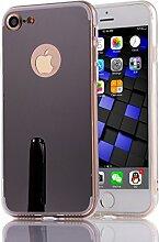 DBIT iPhone 7 hülle, Schlank Handy-Gehäuse Hülle Spiegel TPU Case Schutzhülle Silikon Case Tasche Für Apple iPhone 7,Schwarz