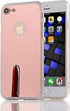 DBIT iPhone 7 hülle, Schlank Handy-Gehäuse Hülle Spiegel TPU Case Schutzhülle Silikon Case Tasche Für Apple iPhone 7,Rose Gold