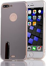 DBIT iPhone 7 Plus hülle, Schlank Handy-Gehäuse Hülle Spiegel TPU Case Schutzhülle Silikon Case Tasche Für Apple iPhone 7 Plus,Schwarz