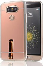 DBIT LG G5 hülle, Schlank Handy-Gehäuse Hülle Spiegel TPU Case Schutzhülle Silikon Case Tasche Für LG G5,Rose Gold