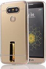 DBIT LG G5 hülle, Schlank Handy-Gehäuse Hülle Spiegel TPU Case Schutzhülle Silikon Case Tasche Für LG G5,Gold
