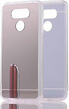 DBIT LG G6 hülle, Schlank Handy-Gehäuse Hülle Spiegel TPU Case Schutzhülle Silikon Case Tasche Für LG G6,Silber