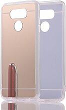 DBIT LG G6 hülle, Schlank Handy-Gehäuse Hülle Spiegel TPU Case Schutzhülle Silikon Case Tasche Für LG G6,Gold