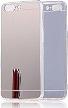 DBIT OnePlus 5 hülle, Schlank Handy-Gehäuse Hülle Spiegel TPU Case Schutzhülle Silikon Case Tasche Für OnePlus 5,Silber