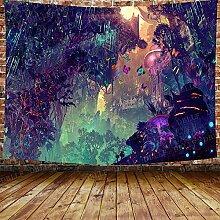 DBLLF Fantasy Forest Wandteppich Ein großer