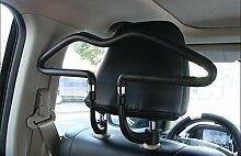 Dbtxwd Auto-Aufhänger Edelstahl Starke Anti-Rutsch-Auto Anzug Kleiderbügel schwarz 45 * 25 * 2cm