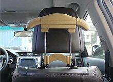 Dbtxwd Auto Imitation Leder Edelstahl Kleiderbügel Im Inneren des Autos Platzieren Sie den Haken Sitzstuhl Rücken Multifunktions-Anzug Einziehbarer Aufhänger 25 * 21cm , beige