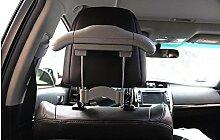 Dbtxwd Auto Imitation Leder Edelstahl Kleiderbügel Im Inneren des Autos Platzieren Sie den Haken Sitzstuhl Rücken Multifunktions-Anzug Einziehbarer Aufhänger 25 * 21cm , gray