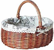 DBWIN Picknickkorb Osterkorb Weidenkorb Körbe mit